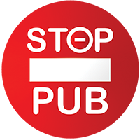 macaron Stop Pub pour boîte aux lettres