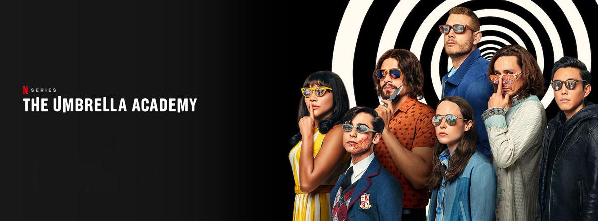 Illustration : Affiche The Umbrella academy sur netflix