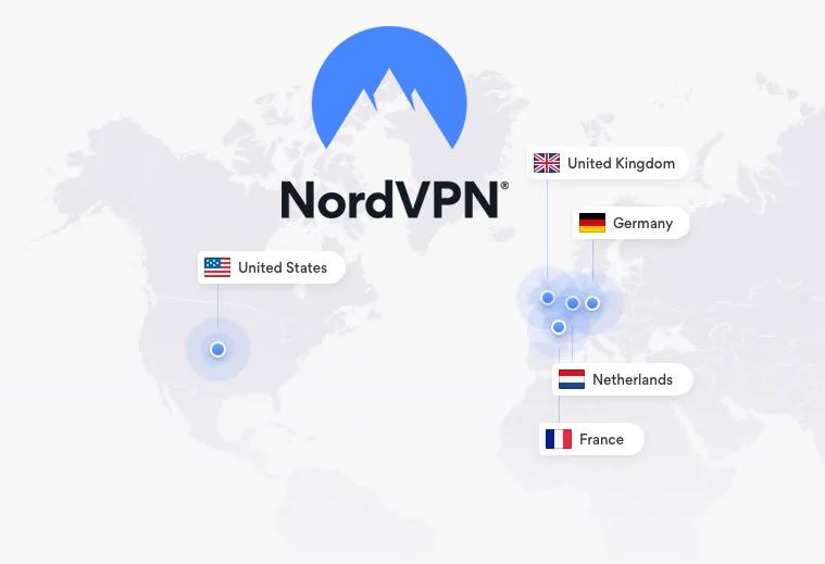 illustration : Pays avec IP statiques proposés par nordVPN