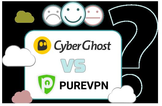 Illustration : CyberGhost et PureVPN