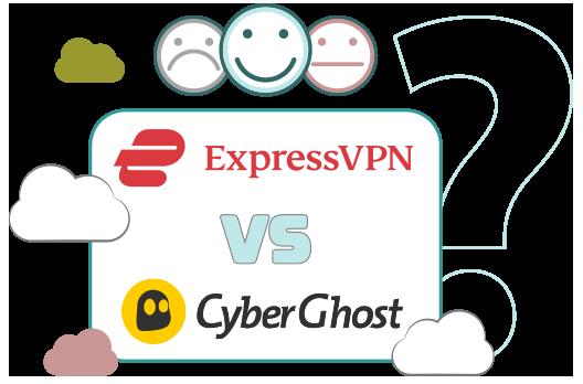 Illustration : ExpressVPN et Cyberghost