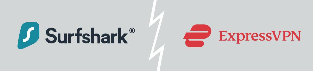 Illustration : ExpressVPN VS Surfshark