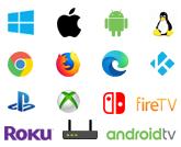 Icones plateforme compatible ExpressVPN