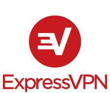 Logo d'ExpressVPN en 1 couleur en hauteur