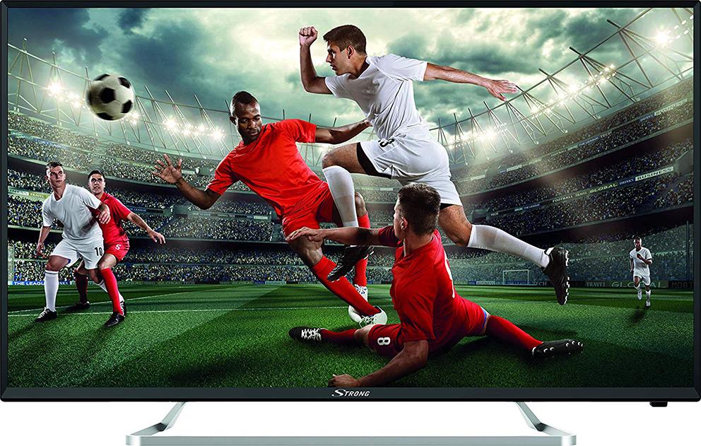 illsutration d'une Smart TV affichant un match de football