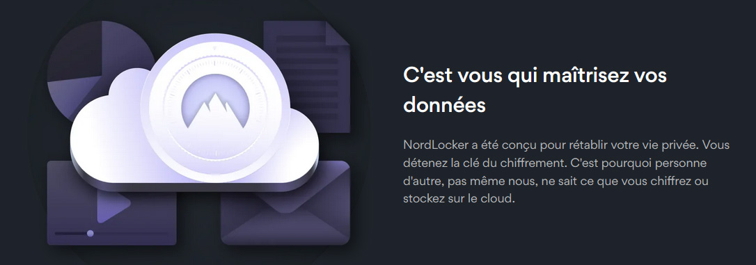 Illustration : NordLocker cloud a connaissance nulle