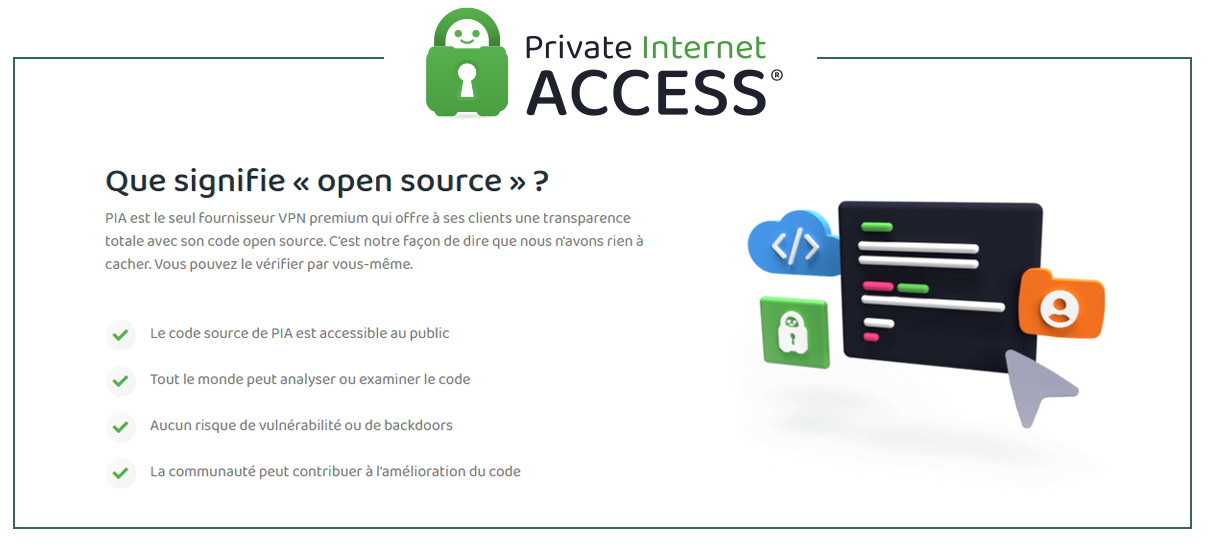 Illustration : Private Internet Access le VPN Open Source