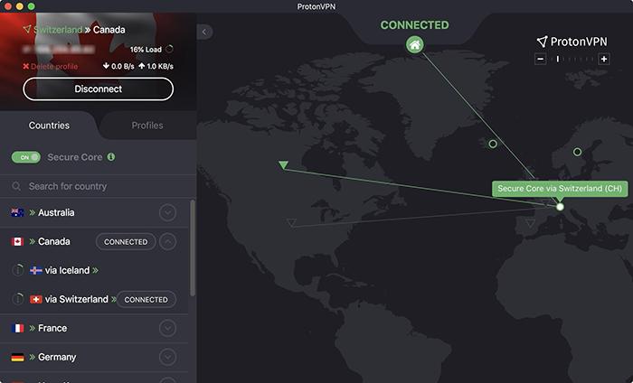Illustration serveur Secure Core de Proton VPN