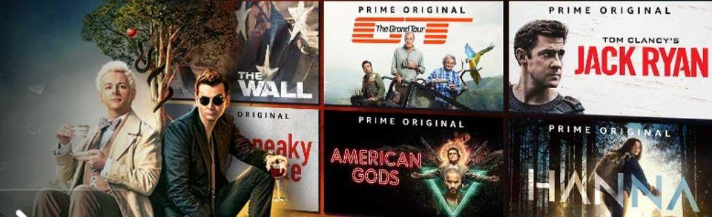 Exemples de contenus disponibles sur Prime Video