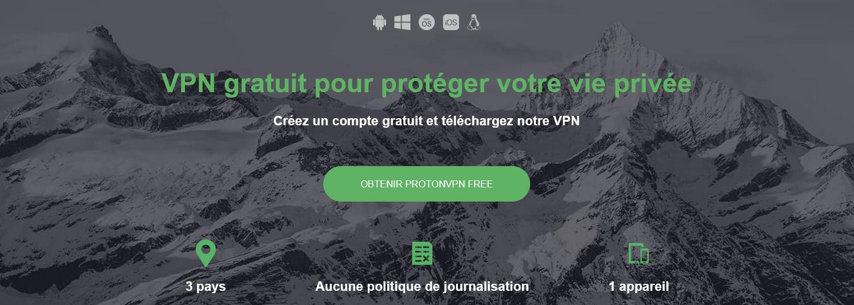 Illustration : ProtonVPN, application VPN Open Source gratuite