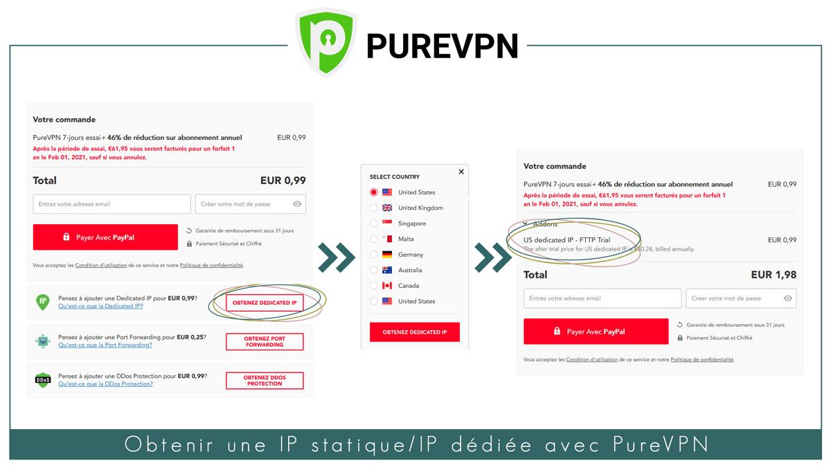 Obtenir une IP Statique avec PureVPN