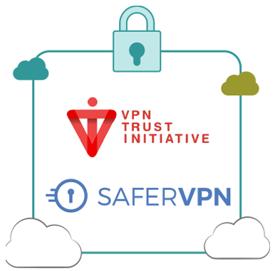 Illustration : SaferVPN de NetProtect est membre de VPN Trust Initiative