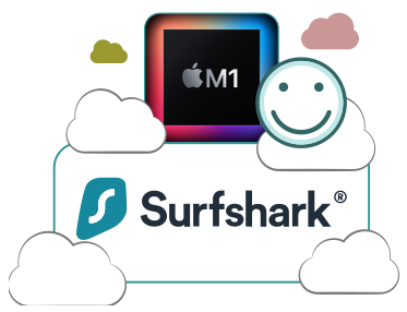 Illustration : Surfshark compatible Puce Apple M1