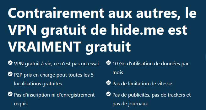 Illustration : Hide.me et son VPN gratuit pour Mac