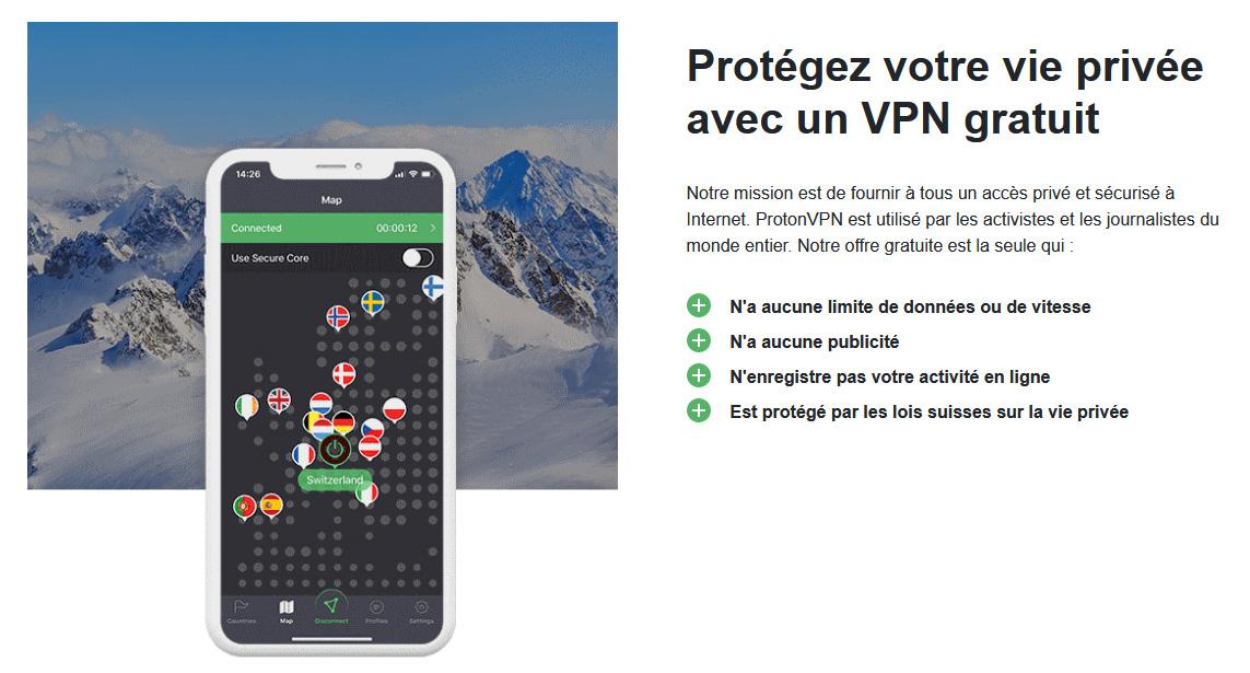 Illustration : VPN gratuit Proton