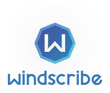 Logo Windscribe complet en hauteur
