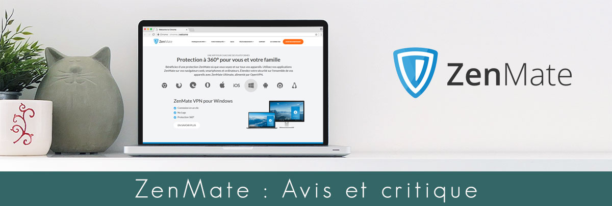 Illustration : mise en situation du site officiel de ZenMate VPN