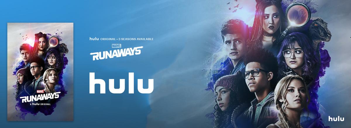 Illustration : affiche runaways sur hulu