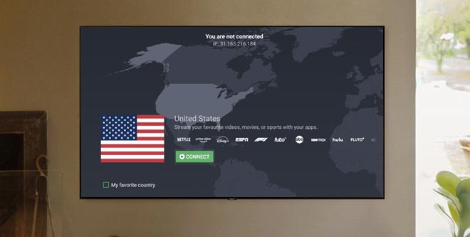 Illustration : Application ProtonVPN pour AndroidTV