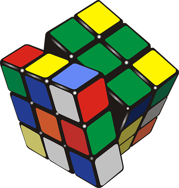 illustrations rubics cube : beaucoup de configurations