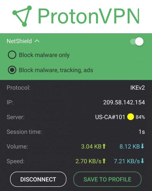 Illustration : NetShield, le bloqueur d'annonces et de malware de ProtonVPN