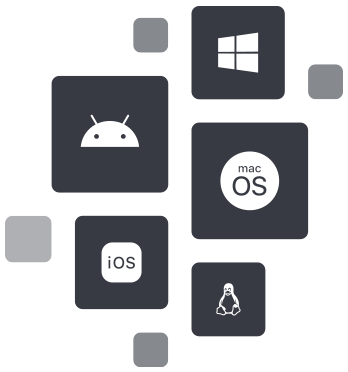Illustration : système d'exploitation compatible avec NordLayer