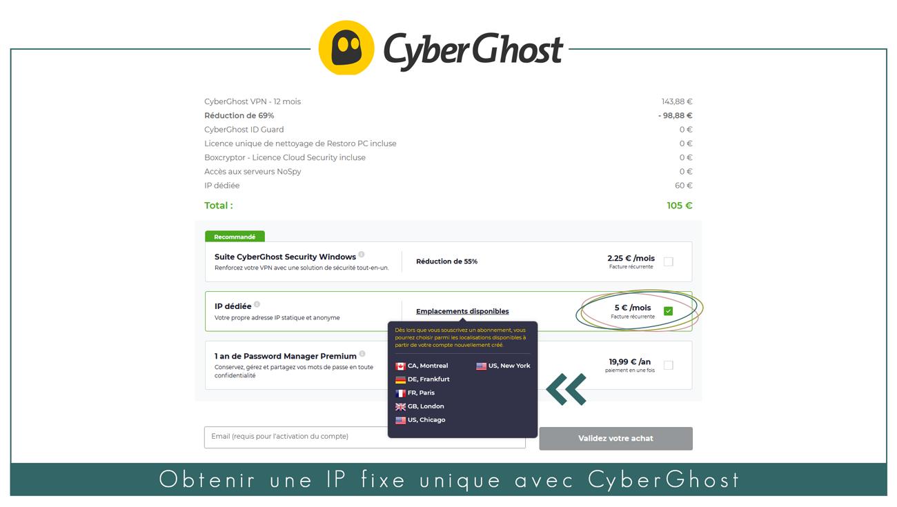 illustration : Tutoriel pour avoir une IP statique avec CyberGhost