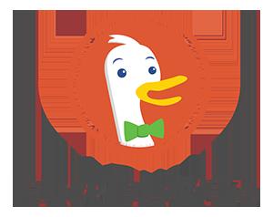 Logo de DuckDuckGo : le méta moteur de recherche qui n'espionne pas ses utilisateurs