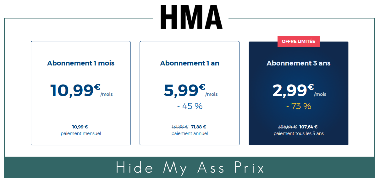 Hide my Ass prix