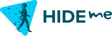 Logo hide.me en longueur