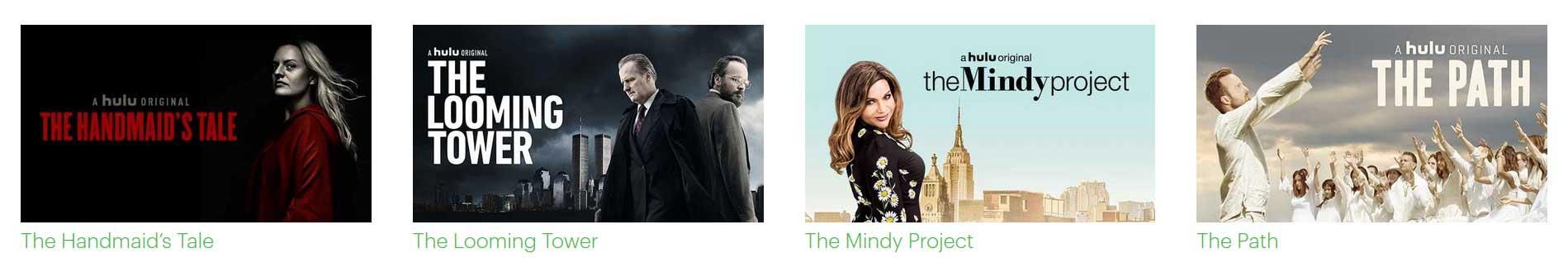 illustration de certains shows disponible sur Hulu