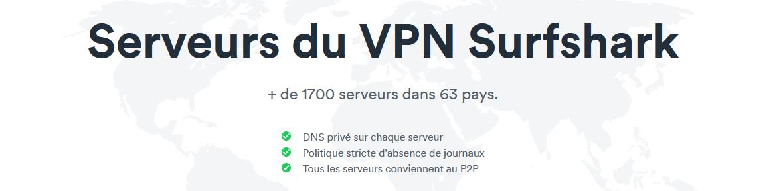 Illustration : Serveurs de Surfshak VPN
