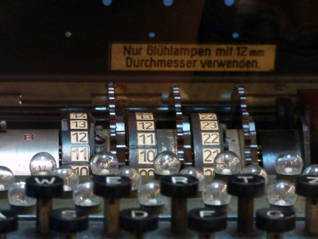 illustrationdes roues crantées d'Enigma la machine à chiffrer