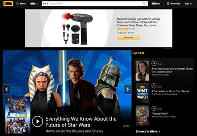 illustration : aperçu du contenu d'IMDb