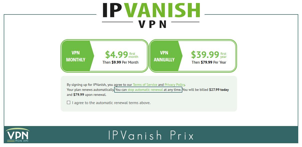 Illustration : Nouveau prix 2021 d'IP Vanish
