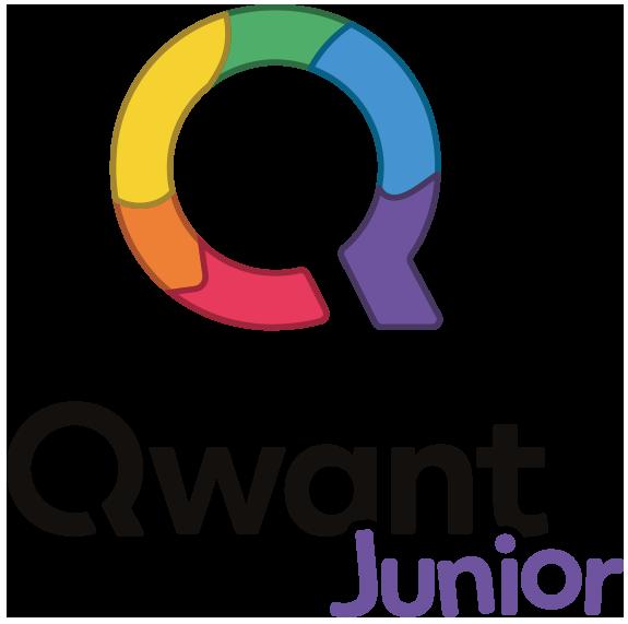 Illustration : logo de Qwant Junior, moteur de recherche pour les kids