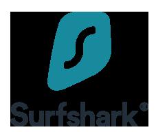 logo de Surfshark : Offre vpn sans abonnement/VPN sans engagement
