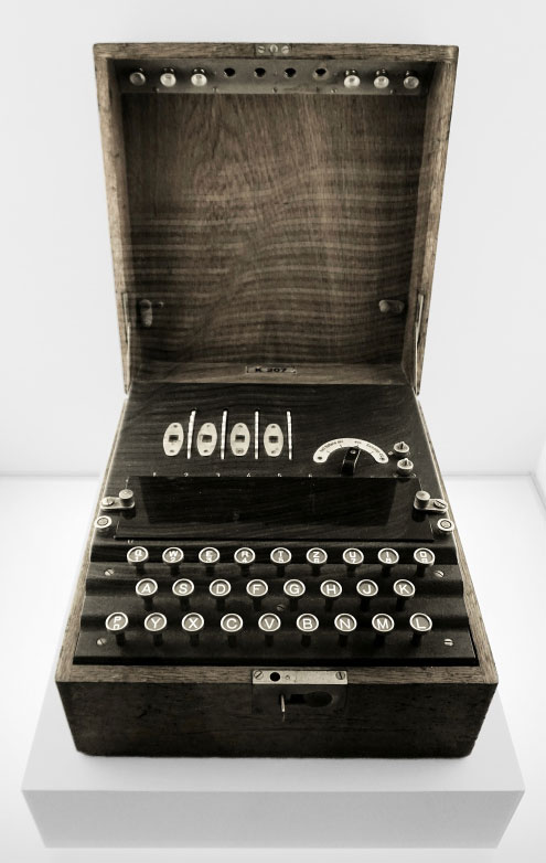 Illustration : première machine à chiffrer des messages Enigma