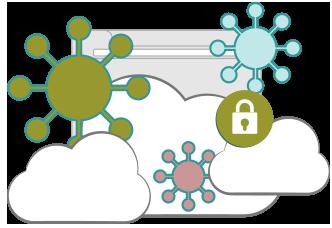 illustration : menaces possibles pour la sécurité sur Internet