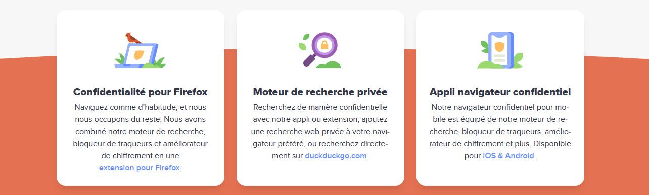 Illustration : DucDuckGo, l'alternative à Google serch