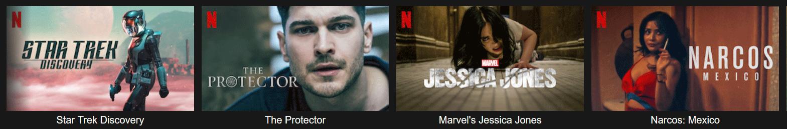 Exemple de séries à succès disponibles sur Netflix