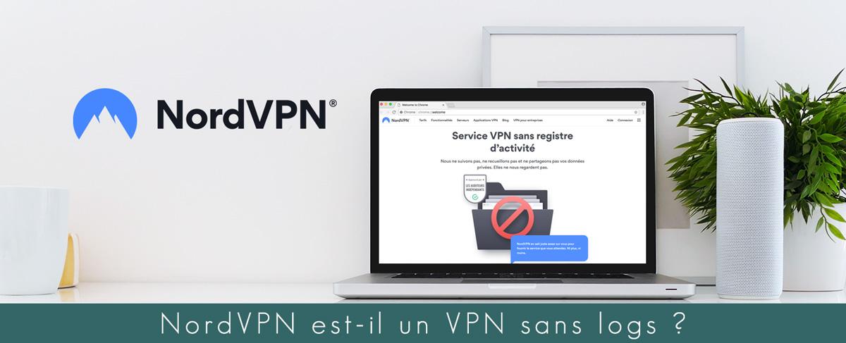Illustration : Mise en situation de la page traitant des logs chez NordVPN