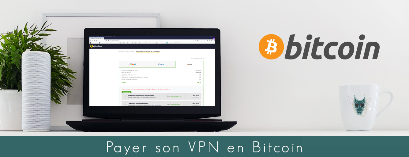 Illustration : Peuton payer son VPN en Bitcoin ?