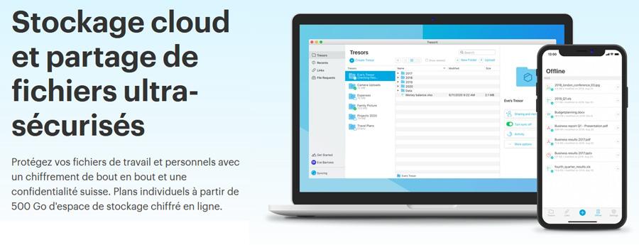 Illustration : Présentation du cloud ultra sécurisé Tresorit