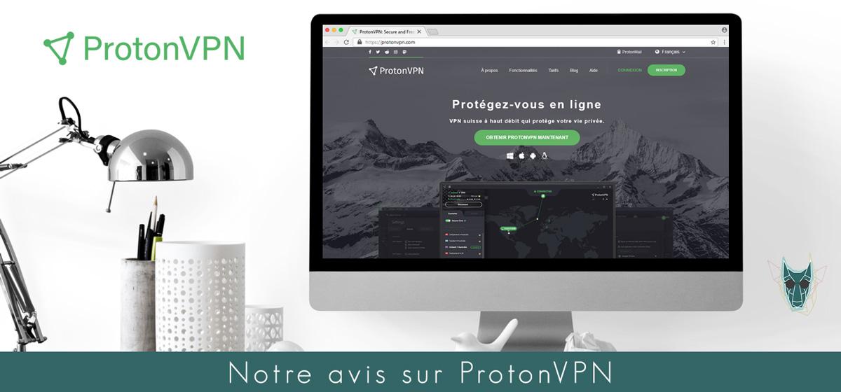 Illustration : Page d'accueil en français de ProtonVPN