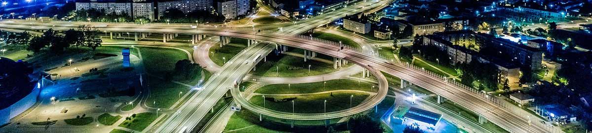 illustration d'un réseau routier complexe