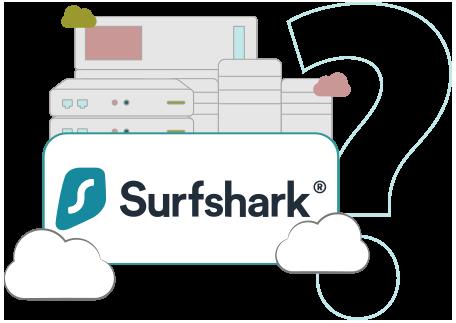 Illustration : Picto serveur Surfshark