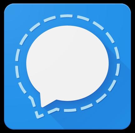messageries fiables pour la vie privée : logo de Signal