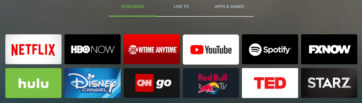 Illustration : Streaming disponible sur AndroidTV