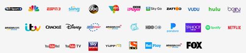 Illustration : exemple de services de VOD disponibles sur Fire TV